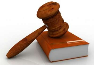 The Law Book With Gavel